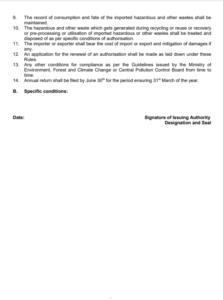 hazardous waste regulation form 2 - b