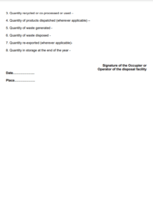 hazardous waste regulation form 4 - b