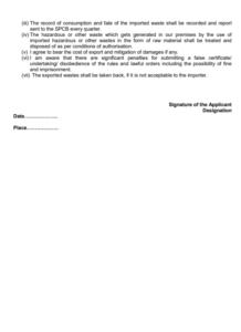 hazardous waste regulation form 5 - b