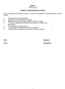 hazardous waste regulation form 11