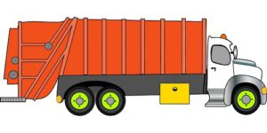 transporting of waste in closed vehicle