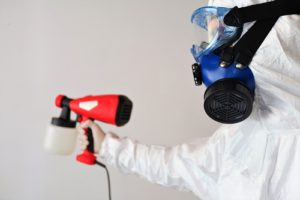 Hospital disinfection with chemical